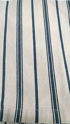 Pottery Barn Classic Ticking Stripe Bed Skirt Dust Ruffle California King Cotton