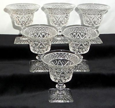 """6 Imperial CAPE COD CRYSTAL *3 1/4"""" FLARED COCKTAIL GOBLETS w/WAFER STEM*160B"""