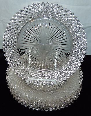 "6 Anchor Hocking MISS AMERICA CRYSTAL *8 1/2"" SALAD PLATES*"