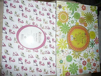 2 Packs Maxwell & Williams Paper Placemats.designer Homewares.2 Designs.60 Sheet