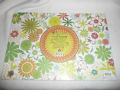 2 Packs Maxwell & Williams Paper Placemats.designer Homewares.citrus.60 Sheets