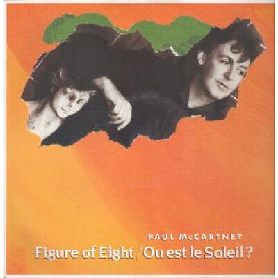 "PAUL MCCARTNEY Figure Of Eight 12"" VINYL 3 Track Orange Pic Sleeve B/w Ou Est"