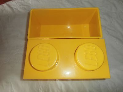 Lego Storage Box   Double   Yellow  As Shown In Pictures