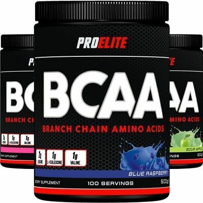 Pro Elite BCAA Intra Workout Recovery Amino Acids 500g