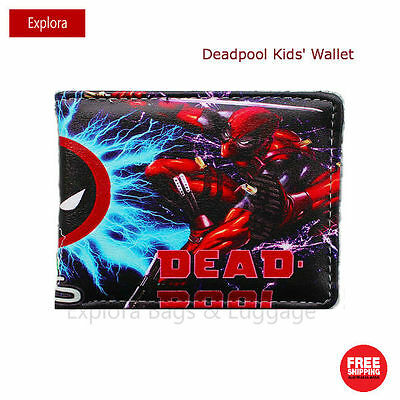 Boys Girls Kids Teenage Biofold PU Leather Wallet -- Deadpool