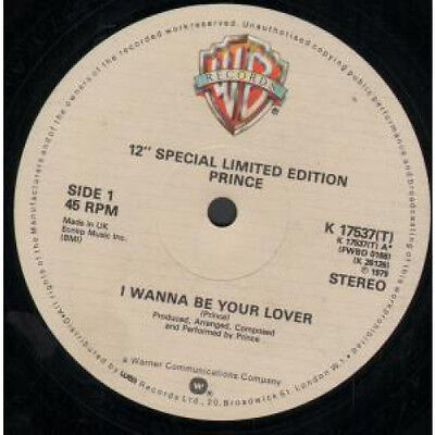 """PRINCE I Wanna Be Your Lover 12"""" VINYL 2 Track Special Limited Edition B/w Jus"""