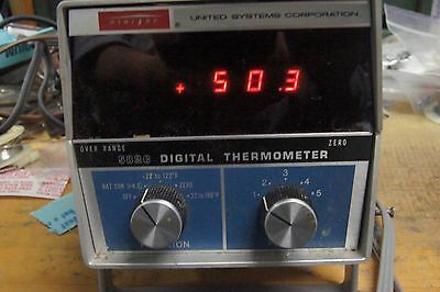 Vintage Digitec Digital Thermometer Bench Lab Probes YSI 700 Thermal Linear