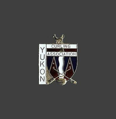 Yukon Provincial Curling Association Official Old Pin