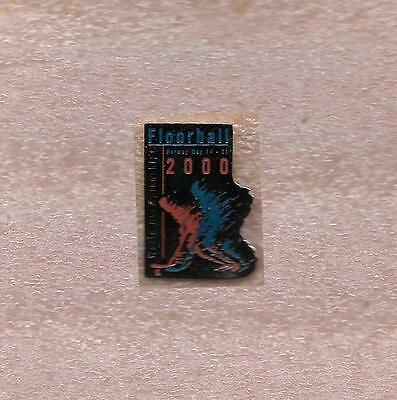 2000 World Championship Floorball Norway Official Pin Old