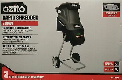 Ozito™ 2400W Electric Rapid Garden Shredder Mulcher Wood Chipper Machine-3yr wty