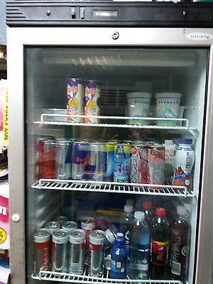 SHOP DRINKS SINGLE GLASS DOOR UP RIGHT DISPLAY CHILER FRIDGE(   tef gold  )