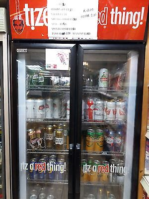 Shop Drinks Double Glass   Door Up Right Display Chiler Fridge   Husky