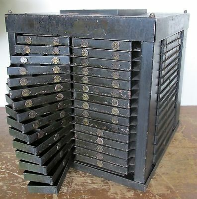 Vintage Industrial 85 Drawer Rotating Drill Index Organizer,Cool Storage Cabinet
