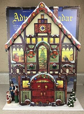 Costco Large Wood Christmas House Advent Calendar with 24 Wooden Doors Victorian