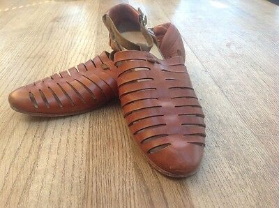 FOLK hand made tan sandals