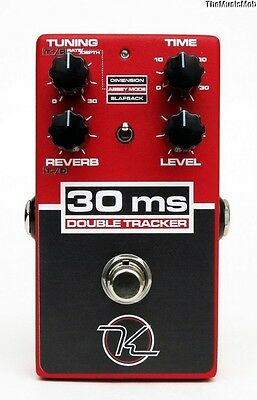 NEW KEELEY 30MS DOUBLE TRACKER GUITAR EFFECTS PEDAL 0$ US S&H w/ FREE CABLE