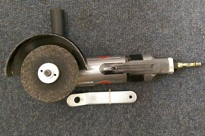 """Rockworth  4"""" Air Angle Grinder With Guard, Side Handle"""