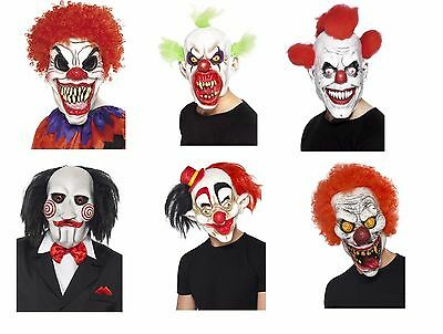 Unisex Men's Women's IT Scary Clown Mask's Halloween Fancy Dress Stag Hen Fun