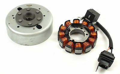 Stator Plate and Flywheel - Piaggio 50cc 4T - Fly Lx 50 Vespa ET4 50 0062
