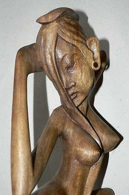 Nice Old Hand Carved Wood Statue, Erotic Elements, Shipping All Over