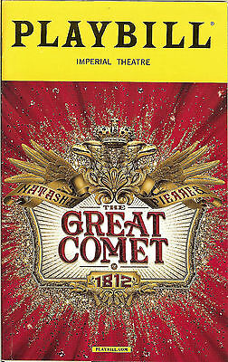 Natasha, Pierre, and The Great Comet of 1812 Playbill October 2016 Josh Groban