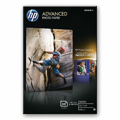 HP White 10x15cm Advanced Glossy Photo Paper 250gsm (Pack of 60)  [HPQ8008A]