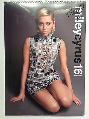 Miley Cyrus Official 2016 Calendar Brand New & Sealed Free UK Postage