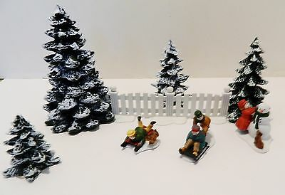 Dept.56  Heritage Village & Christmas In City. Decorate  W./trees, Fence, Kids