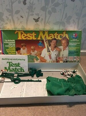 Vintage 'Test Match' Table Top Cricket Game By Peter Pan Playthings 1980's