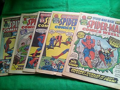 1973 SPIDER-MAN COMICS WEEKLY - ISSUES 1 to 5