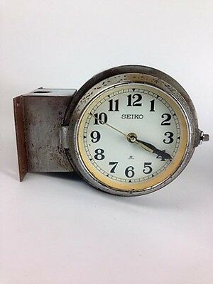 Vintage Polished Extra-Wide Double-Sided Ship's Clock