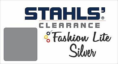 "15"" x 17 Yards - Stahls' Fashion-LITE Heat Transfer Vinyl HTV - Silver"