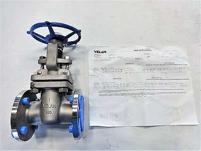 "Velan 1"" 150# Cf8M Gate Valve, Model C #f05-0064C-13Sx W/ Mtr Documentation"