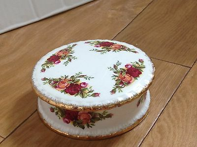 Small Royal Albert, Old Country Roses, Pot And Lid.