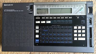 Vintage Sony ICF-2010 Air/AM/FM/LW/MW/SW Radio PLL Synthesized World Receiver