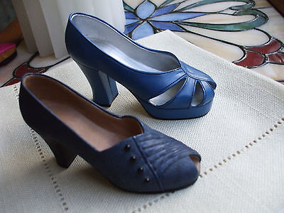 Lot 2 Just The Right Shoe * Lady Like Blue Shoe Raine 25044 * New Heights 25019
