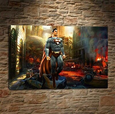 Batman Arkham Knight Superman,HD print art home deco painting on canvas 16x24""