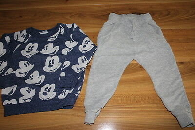 NEXT boys MICKEY MOUSE jumper joggers bundle 2-3 years *I'll combine postage