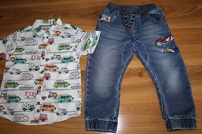 NEXT boys CARS shirt jeans bundle 2-3 years *I'll combine postage