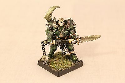 Warhammer Warriors of Chaos Nurgle Champion Well Painted