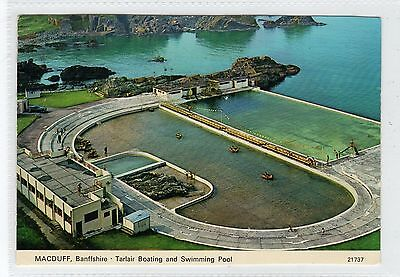 TARLAIR BOATING AND SWIMMING POOL, MACDUFF: Banffshire postcard (C29173)