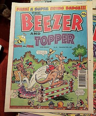 The Beezer And Topper Comic - No.54 - September 28th 1991
