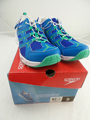 Speedo Ladies Hydro Comfort 3.0 Water Shoes Blue/Green US Size 9 (see details)