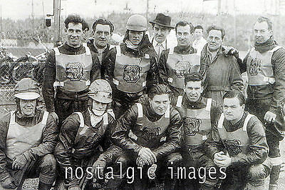 Photo Taken From A 1952 Image Of Bristol Bulldogs   Speedway Team