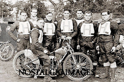Photo Taken From A 1949 Image Of The Hastings  Speedway Team