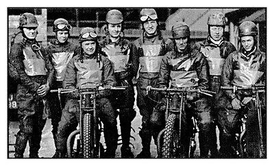 Photo Taken From A 1937 Image Of The Liverpool Speedway Team