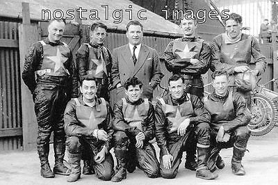 Photo Taken From A 1953  Image Of The 1953 Norwich  Speedway Team
