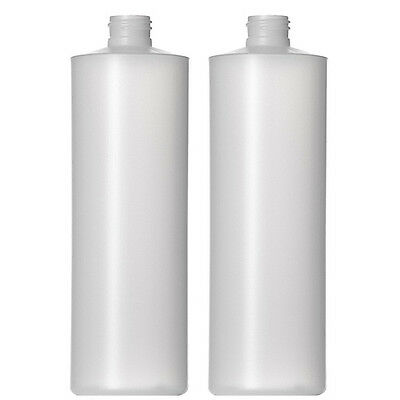 16 oz (473 ml) HDPE Plastic Bottles w/Silver Plastic Metal Finish Cap (Lot of 8)