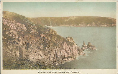 Dog & Lion Rocks,Moulin Huet,Guernsey,(Dennis's Aqua Gravure Series)