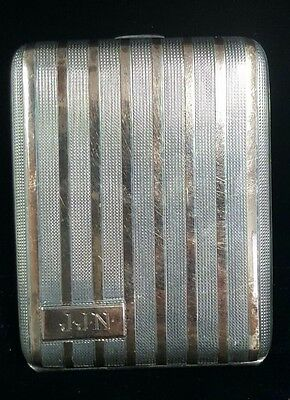 Vintage Elgin American 14k Gold & Sterling Cigarette Case Hallmarked #WB2-EAC55